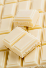Lots of white chocolate on a tablet