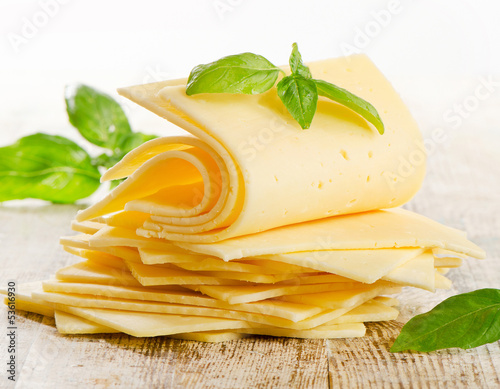 Slices of cheese - 53616930
