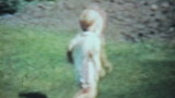 Boy Playing With His Grandmother Outside-1963 Vintage 8mm film