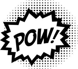 Pow! - Comic Sprechblase - zweifarbig