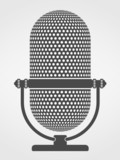 Silhouette of a microphone