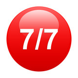 bouton internet 77 icon red