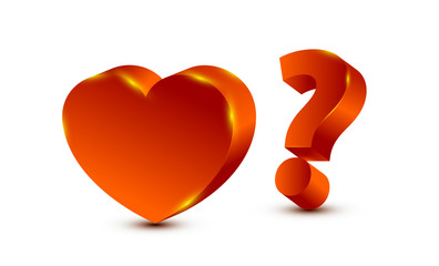 heart and question mark