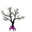 Abstrakter Baum mit schweigendem Paar