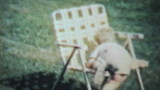 Boy Enjoys Playing Outside In The Yard-1963 Vintage 8mm film