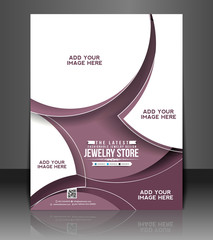 jewelry shop flyer, vector