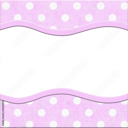 Pink Polka Dot and Striped Frame for your message or invitation