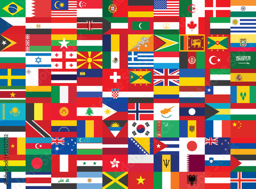 seamless background with some of world flags
