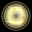 yellow abstract circle object with grid