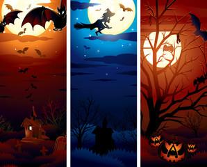 Vertical Halloween Banners