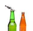 Two bottles of beer and a opener