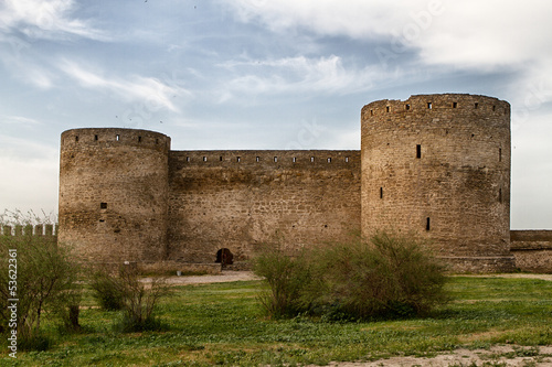 Citadel on the Dniester estuary Old fortress in town Bilhorod-Dn