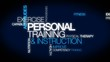 Personal training & instruction word tag cloud animation