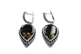 Morion earrings