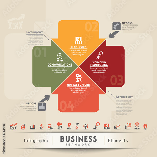Business Teamwork Concept Graphic Element