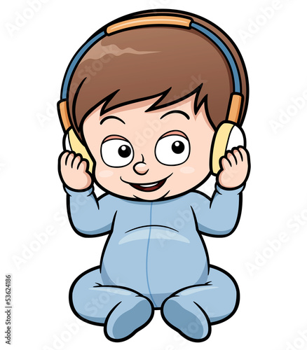 Vector illustration of baby cartoon