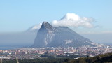 Rock of Gibraltar with a Levant cloud. Time-lapse video