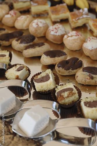 Variety of italian pastry