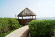 thatched beach hut.summerhouse, mexico