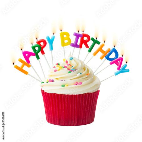 Birthday cupcake - 53626311
