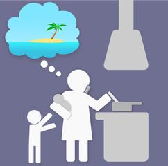 Métro Boulot Dodo - Envie de vacances dans la cuisine