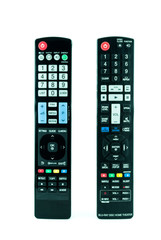 TV remote control isolated on white - Television remote control
