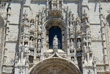 Jeronimos Monastery at Belem district, Lisbon, Portugal