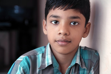Indian Cute Boy Posing to Camera