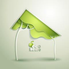 Abstract vector GREEN eco house
