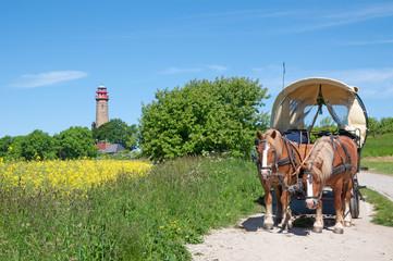 am berühmten Kap Arkona auf der Insel Rügen