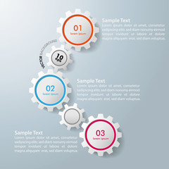 Three Gears Infographic Design