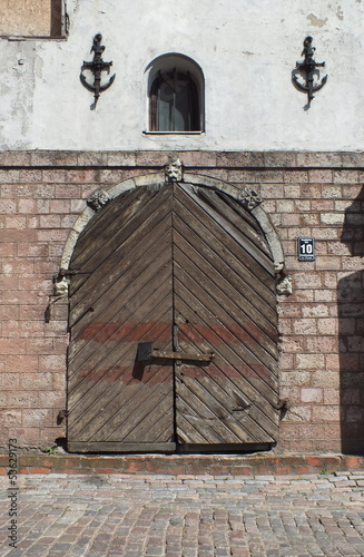 Doors of old storehouse (Riga, Latvia)