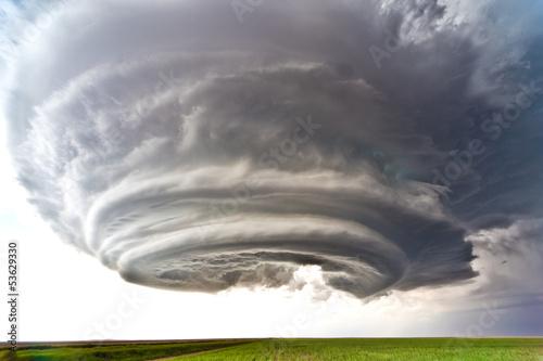 Leinwandbild Motiv Severe thunderstorm in the Great Plains