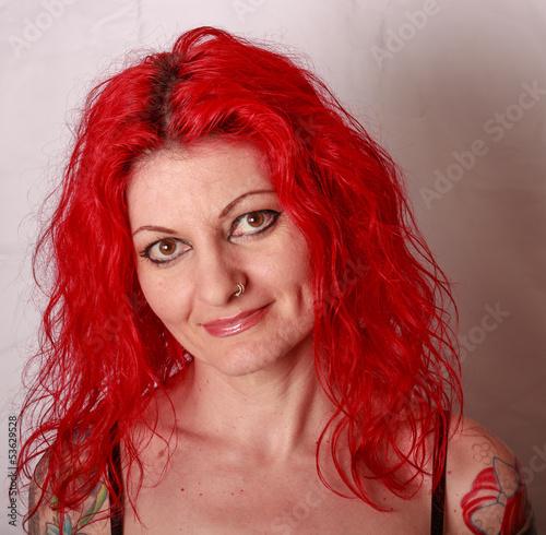 portrait frau rote haare stockfotos und lizenzfreie bilder auf bild 53629528. Black Bedroom Furniture Sets. Home Design Ideas