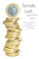 1 Euro Münzstapel
