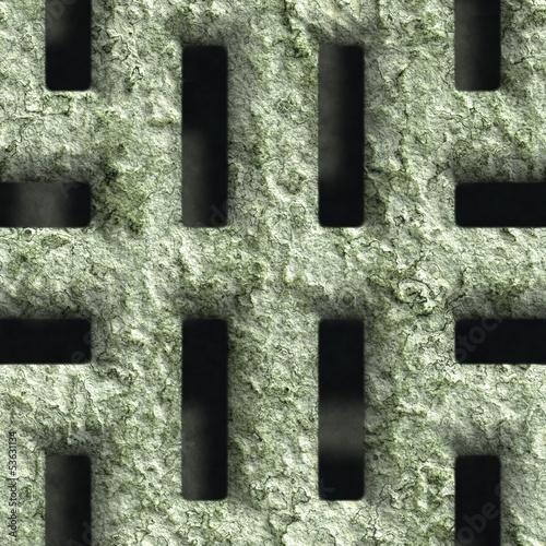 Corroded square vent - seamless background