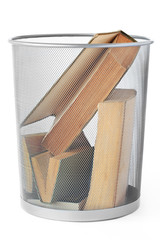 Books In Dustbin