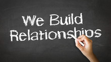 "Постер, картина, фотообои ""We Build Relationships Chalk Illustration"""