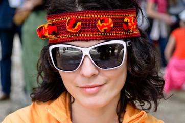 Beautiful woman in a headband