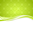 green ornament banner
