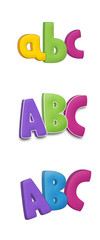 The cartoon alphabet - numbers - for the children