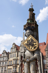 Roland auf dem Marktplatz der Hansestadt Bremen