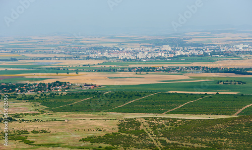 Summer field and Yambol town