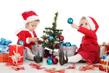 two santas girls