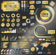 Metallic infographic vector elements