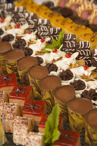 a choice of assorted chocolates and desserts