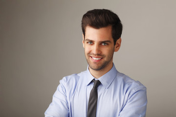 Close- up portrait of a young businessman