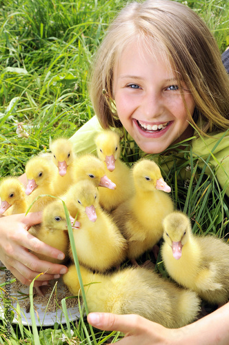 girl with gosling