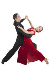 Young couple dancint waltz
