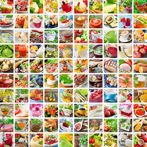 Foto op Aluminium Kruidenierswinkel Kochen - Food - Collage